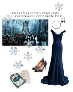 My Yule Ball by lj-case on Polyvore featuring polyvore, fashion, style, Manolo Blahnik, Blue Nile, Preen and clothing