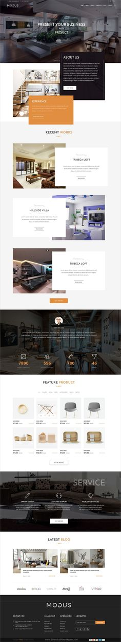 Modus is a stylish and elegant design #PSD template for #interior, #exterior, furniture and decor shop eCommerce website with 14 organized PSD pages download now➩ https://themeforest.net/item/modus-ecommerce-psd-template/19476333?ref=Datasata