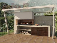 "Outstanding ""outdoor kitchen designs layout patio"" information is readily available on our site. Read more and you wont be sorry you did. Modern Outdoor Kitchen, Outdoor Kitchen Bars, Backyard Kitchen, Summer Kitchen, Outdoor Living, Outdoor Decor, Outdoor Ideas, Outdoor Kitchens, Outdoor Cooking"