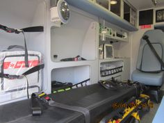 Type II ambulances have an option of being fitted with the Advanced Life-Support (ALS) or a Basic Life-Support (BLS) system as prescribed in the Federal Specifications and the Ambulance Manufacturing Division (AMD) standards. Basic Life Support, Outlets, Hangers, Bunk Beds, Division, Cage, Safety, Federal