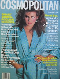 July 1985 cover with Joanna Pacula