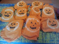 Tie-Dye pumpkin T-Shirts with a link to instructions.