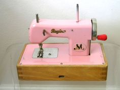 Antique Toy Sewing Machine by GandGstuff on Etsy, $50.00
