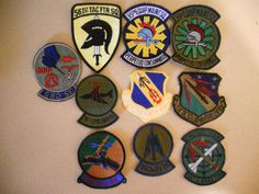 10 DIFF MILITARY PATCHES-LOT    1