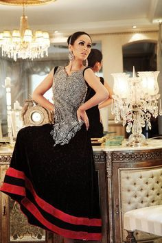 Teena by Hina Butt Spring Summer Collection 2013 Pinned by Zartashia Pakistani Couture, Indian Couture, Pakistani Outfits, Eastern Dresses, Desi Wear, Fashion Designer, Designer Dresses, Desi Clothes, Indian Attire