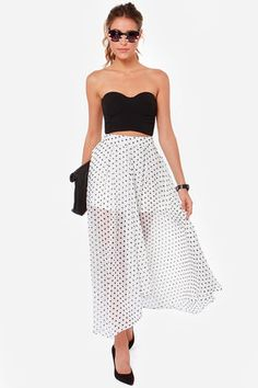 That's My Spot Ivory Polka Dot Maxi Skirt.. cant wait to get this in the mail!!!