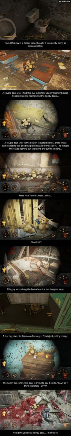 The Teddy Bears In Fallout 4 Are Sentient.