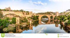 Famous Bridges Europe | Panorama Of Famous Toledo Bridge In Spain, Europe. Royalty Free Stock ...