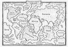 """Map showing the (fictional) location of Zamonia from the wonderful book """"The 13½ Lives of Captain Bluebear"""" by Walter Moers"""