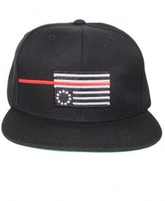 0840edd25f1 Black Scale - Red Rebel Flag Snapback Cap -  36