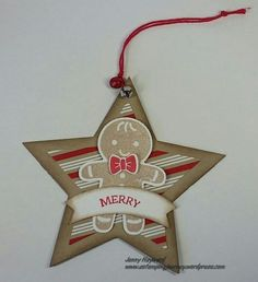 Star Tag with Cookie Cutter stamps
