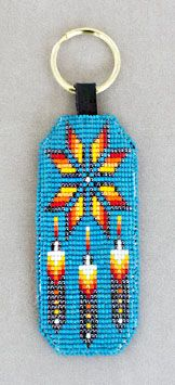 A nicely beaded key fob. Found on www.coyotesgame.com