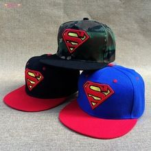 Hot ! Men women custom Marvel cartoon superman S snapback caps and hats adult cotton embroidery hip hop gorras(China (Mainland))
