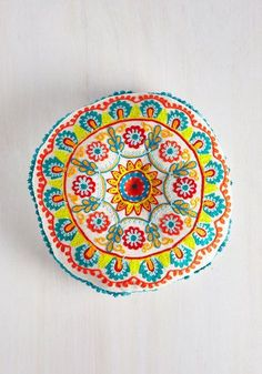 Needlework of Art Pillow - From the Home Decor Discovery Community at www.DecoandBloom.com