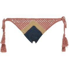 d0bbe15b21 All That Remains Sugar Crochet Bikini Bottom (2 310 UAH) ❤ liked on Polyvore  featuring swimwear