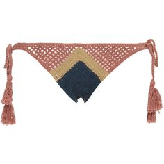 All That Remains     Sugar Crochet Bikini Bottom (770 SEK) ❤ liked on Polyvore featuring swimwear, bikinis, bikini bottoms, bottom bikini, swim bikini bottoms, crochet bikini bottom, colorful bikini and side tie bikini