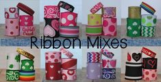 Take the guesswork out of your next project with these themed ribbon mixes! Hair Bow Supplies, Art Ideas, Room Ideas, Cheap Ribbon, Wholesale Ribbon, Cheer Gifts, Ribbon Hair Bows, Cupid, Craft Supplies