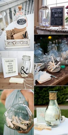 25 Creative Wedding Guest Book Ideas - EmmaLovesWeddings message in a bottle wedding guest book ideas Today I have the pleasure of bringing you collection of our favorite guestbook ideas, which range from madlibs to a Jenga game! There's no limit. Wedding Planning Book, Wedding Book, Diy Wedding, Wedding Favors, Wedding Ceremony, Guest Book Ideas For Wedding, Unique Guest Book Ideas, Creative Wedding Ideas, Handmade Wedding