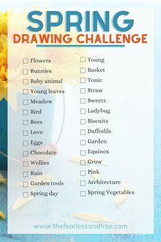 100 Day Challenge, Art Challenge, Rain Garden, Love Garden, Inktober, Clip Studio Paint Brushes, Spring Drawing, Drawing Ideas List, Drawing Prompt