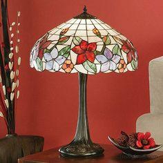 Interiors 1900 Country Border Tiffany Table Lamp