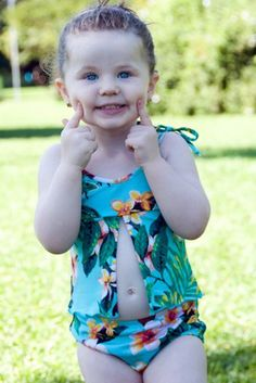Maui Baby/Toddler Tankini  - Lemons & Limes Kids Swimwear - 50% OFF - now only $28