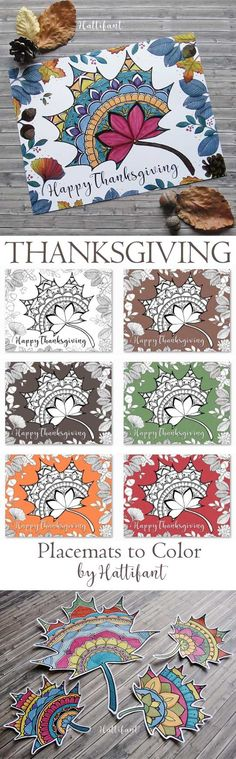 Hattifants Thanksgiving Mandala Autumn Leaf Coloring Page Printable
