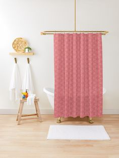 """Tea Rose #1"" Shower Curtain by Kettukas 