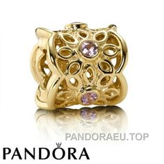 a2f09c3ba Pandora Charm - 14K Gold & Pink Sapphire Golden Radiance, Moments  Collection Pandora Gold
