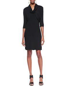 Sleeveless Cowl-Neck Dress & Half-Sleeve Shrug, Petite by Eileen Fisher at Neiman Marcus.