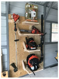 Tool Shed Organizing, Garage Workshop Organization, Diy Garage Storage, Diy Organization, Storage Ideas, Diy Workshop, Workbench Organization, Storage Solutions, Workshop Design
