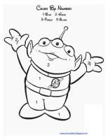 toy story alien color by number - Alien Coloring Pages