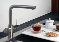 5 Smart Upgrades for Your Kitchen 5) Smart Faucets- Who knew the kitchen faucet could see so much innovation? An example is the Kohler Sweep Spray faucet, which replaces the familiar circular pattern spray with a wide, forceful blade of water. That makes it easier to rinse pans and other large items, in addition to spraying down the sink when the dishes are done.