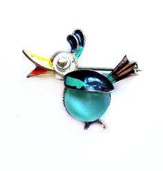 Vintage Bird Pin