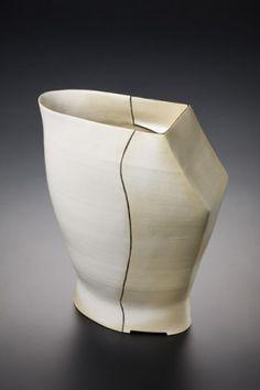 """Maren Kloppmann Ceramics   Porcelain, Glaze, Terra Sigillata,  15""""W x 5""""D x 19""""H"""