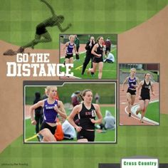 track scrapbook layouts | Track and Field Digital Scrapbooking Layout