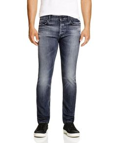 Hudson Byron Straight Fit Jeans in Blacksmith