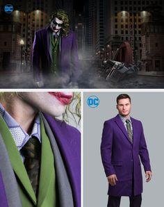 Comic Wedding, Geek Wedding, Wedding Suits, Wedding Ideas, Wonder Woman Wedding, Suit Overcoat, Joker Suit, Superman Wedding, Batman Shoes