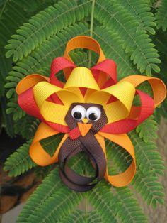 Thanksgiving  Turkey  Thanksgiving Hair Bow   by OhSoPrettyByAsia, $5.75
