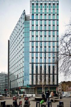 Completed in 2017 in London, United Kingdom. Images by Matt Chisnall, Rob Parrish, Tim Soar, Andrew Holt, Jasper Fry. White Collar Factory is a complex of six buildings at Old Street Yard, which includes offices, studios, incubator space, restaurants and apartments,...