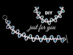 How to make beads bracelet - Karividi Necklace Tutorial, Earring Tutorial, Beads Tutorial, Crochet Beaded Necklace, Beaded Bracelets, Pearl Bracelet, Beaded Jewelry Patterns, Beading Patterns, Embroidery Patterns