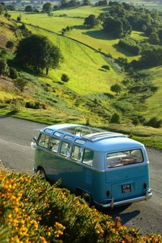 Blue 21 window convertible Safari Volkswagen Bus #VWBUS | re-pinned by http://www.wfpblogs.com/author/southfloridah2o/