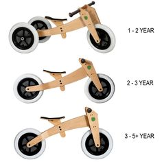 Wishbonebike - hippe 3 in 1 houten loopfiets