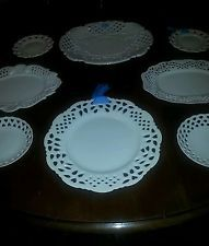 Collectible Two's Company Cottage White Ribbon  Hanging Plates for grouping