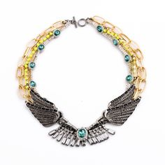 Occident alloy  necklace ( green ) NHQD1745