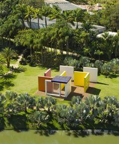 Vista aérea de Inhotim (Foto: Marcelo Coelho)
