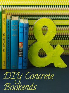 We used @quikrete concrete mix and a kraft letter mold to make this industrial chic ampersand bookend. Super-easy!