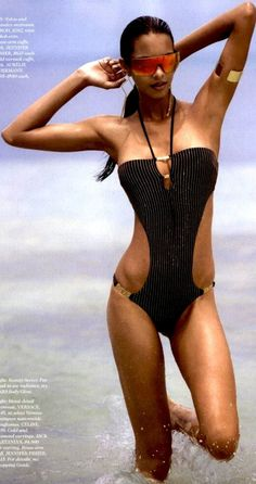 Dilek Hanif awesome bathing suit