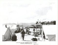 Canadian Pacific 1949 Movie Black White Movie Still Train Western Camp Tents, $12.95