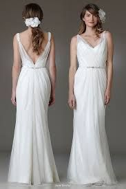 Amy Kuschel Ashbury boho chic wedding gown exudes Bohemian inspired style, sheath silhouette fabricated in sheer Netting, cut to floor lengt. Bohemian Wedding Dresses, Boho Wedding, Bridal Dresses, Bridesmaid Dresses, Grecian Wedding, Ribbon Wedding, Backless Wedding, Ivory Wedding, Hair Wedding