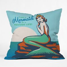 Anderson Design Group Mermaid In A Previous Life Throw Pillow | DENY Designs Home Accessories
